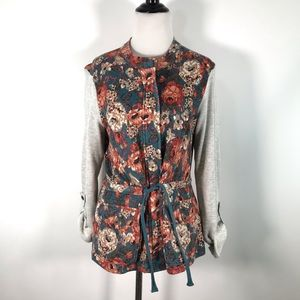 Saturday Sunday Delwyn Zip Floral French Terry M